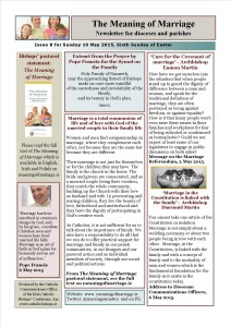 Meaning of Marriage Newsletter Issue 8 for Sunday 10 May 2015