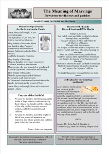 Meaning of Marriage Newsletter Issue 9 for Sunday 17 May 2015 back