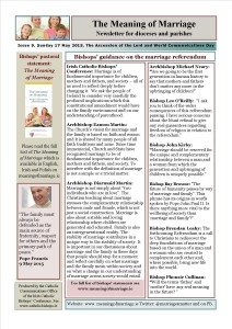 Meaning of Marriage Newsletter Issue 9 for Sunday 17 May 2015 front