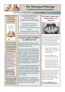 Meaning of Marriage Newsletter Issue 6 26 April 2015